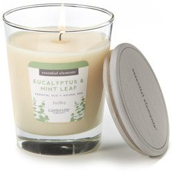 Candle-lite Essential Elements Glass Natural Scented Candle 9 oz 255 g - Eucalyptus & Mint Leaf