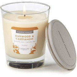 Candle-lite Essential Elements Glass Natural Scented Candle 9 oz 255 g - Oudwood & Cardamom