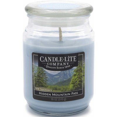 Candle-lite Everyday Collection Large Scented Jar Glass Candle 18 oz 145/100 mm 510 g ~ 110 h – Hidden Mountain Pass