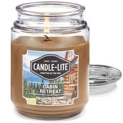 Candle-lite Everyday Collection Large Terrace Jar Glass Scented Candle 18 oz 145/100 mm 510 g ~ 110 h - Cabin Retreat