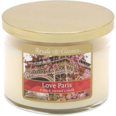Candle-lite Royale Classics 11.5 oz 3-wick scented candle 326 g - Love Paris