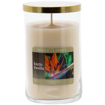 Candle-lite Royale Classics premium scented candle tumbler gold 17 oz 481 g - Exotic Vanilla