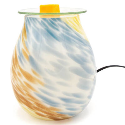 Electric white wax burner for scented wax melts Modern glass